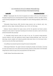Law on Amendments on the Law on Utilization of Renewable ...