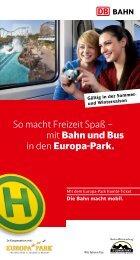 So macht Freizeit Spaß – mit Bahn und Bus in den Europa-Park.