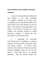 Hon'ble Members of the Legislative Assembly, Vanakkam. It gives ...