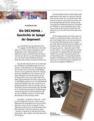 Die DECHEMA – Geschichte im Spiegel der Gegenwart