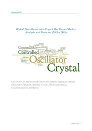 Global Next Generation Crystal Oscillators Market Analysis and Forecast (2013 – 2018): Public and Private Partnerships in Emerging Countries Key to Market Penetration