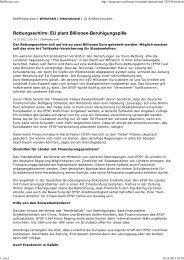 Rettungsschirm: EU plant Billionen-Beruhigungspille
