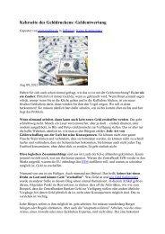 Kehrseite des Gelddruckens: Geldentwertung