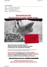 Staatsbankrott Deutschland geht 2009 unter