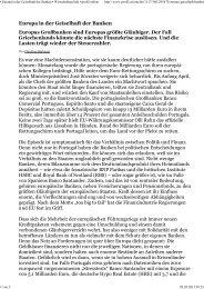 Ł Europa in der Geiselhaft der Banken Ł Wirtschaftspolitik Ł profil ...