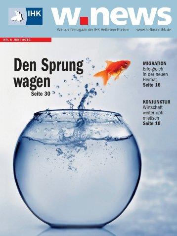 Forschen, Entwickeln - Querdenken | w.news 06.2013