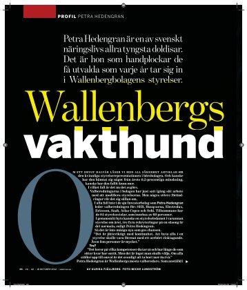 Petra Hedengran är en av svenskt näringslivs allra ... - Investor AB
