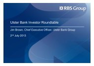 Ulster Bank Investor Roundtable - Investors