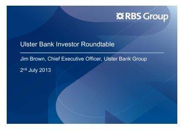 Ulster Bank Investor Roundtable - Investors