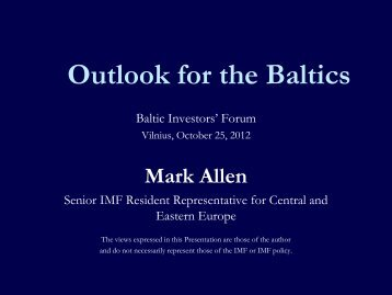 Europe and Financial Crisis - Investors' Forum