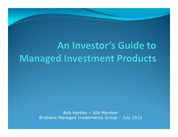 Presentation - Australian Investors Association
