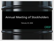 Greif Annual Stockholders Meeting - InvestQuest