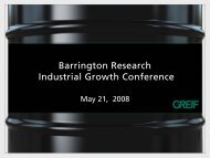 Barrington Research Industrial Growth Conference - InvestQuest