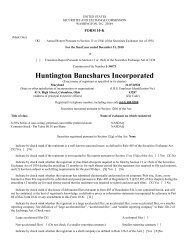Huntington Bancshares Incorporated - InvestQuest