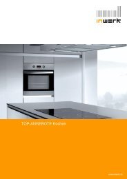 TOP-ANGEBOTE Küchen - inwerk