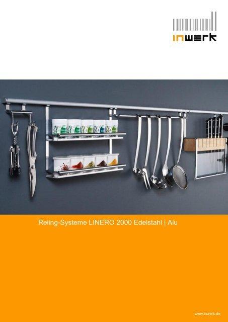 Reling-Systeme LINERO 2000 Edelstahl - Inwerk Kuechen, Martin ...