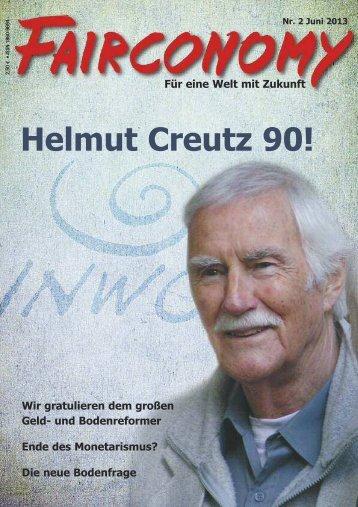 Helmut Creutz 90 Jahre - Inwo