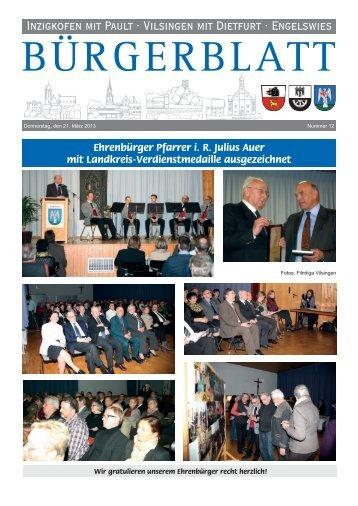 Bürgerblatt 12/201 - Inzigkofen