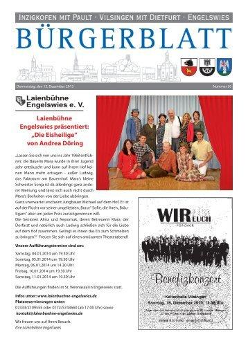 """Laienbühne Engelswies präsentiert: """"Die Eisheilige ... - Inzigkofen"""