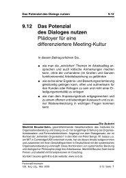 Das Potenzial des Dialoges - Institut für Organisationsberatung und ...