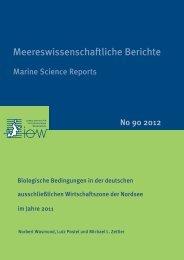 Biologische Bedingungen in der deutschen ausschließlichen - IOW