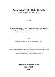 Meereswissenschaftliche Berichte - IOW