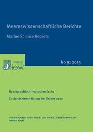 Hydrographisch-hydrochemische Zustandseinschätzung der ... - IOW