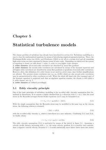 Statistical turbulence models