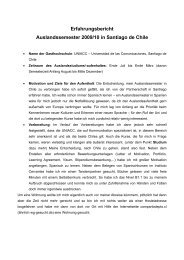 Erfahrungsbericht Auslandssemester 2009/10 in Santiago de Chile