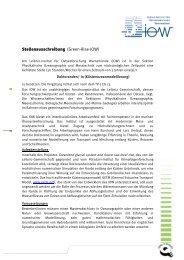in der Sektion Physikalische Ozeanographie und Messtechnik - IOW