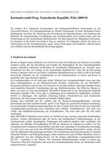 5. WS 09/10 - International Office - Universität Bremen