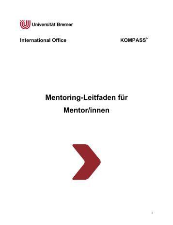 Mentoring-Leitfaden für Mentor/innen - International Office ...