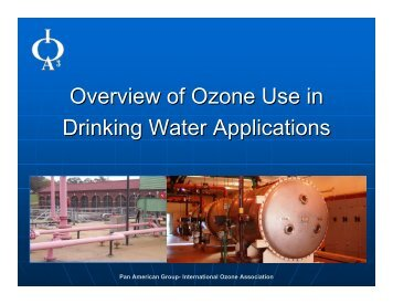 Drinking Water Applications - International Ozone Association