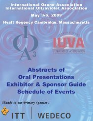 Abstracts of Oral Presentations Exhibitor & Sponsor Guide Schedule ...