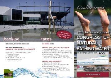 Flyer for exhibitores - Schwimmteich Kongress