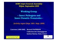 Insect Pathogens and Insect Parasitic Nematodes - IOBC-WPRS