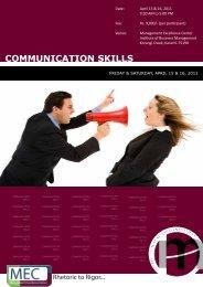 Communication Skills - Institute of Business Management