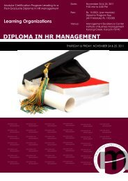 Learning Organizations - Institute of Business Management