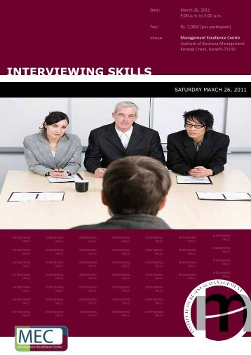 Interviewing Skills - Institute of Business Management