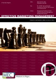 Effective Marketing Management - Institute of Business Management