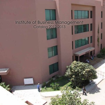 Catalog 2012-13 (Complete) - Institute of Business Management
