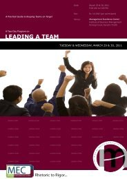 Leading a Team - Institute of Business Management