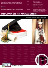 Diploma in HR Management Module III - Institute of Business ...