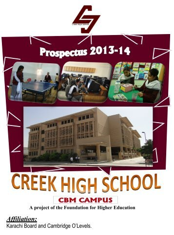 Creek High School - Institute of Business Management