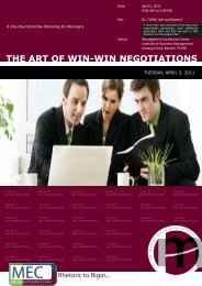 The Art of Win Win Negotiations - Institute of Business Management