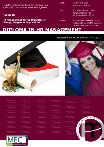 Diploma in HR Management - Institute of Business Management