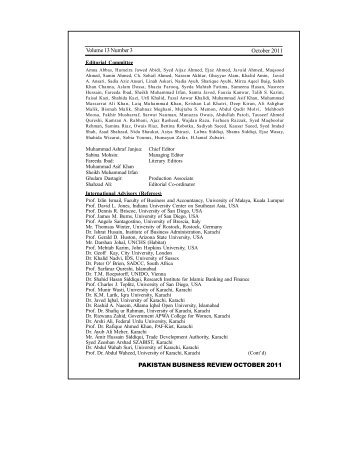 Editorial Board - Institute of Business Management