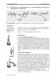 2.1.6 Eliminierung von Toluolsulfonsäure aus (–)-Menthyltosylat mit ...