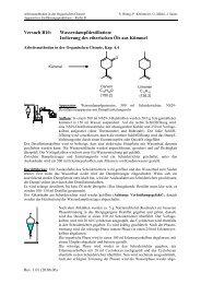 Versuch B10: Wasserdampfdestillation