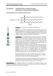 Versuch B11: Kontinuierliche Extraktion (Soxleth)